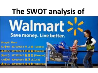 The SWOT analysis of