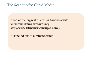 The Scenario for Cupid Media