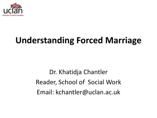 Understanding Forced Marriage