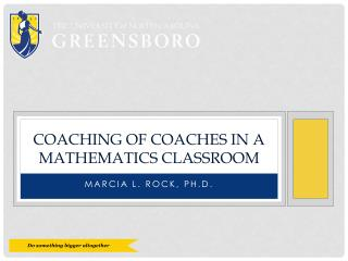 Coaching of coaches in a mathematics classroom