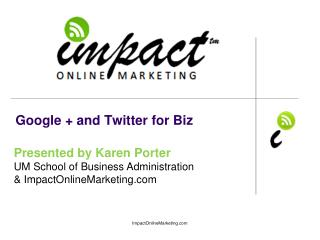 Google + and Twitter for Biz