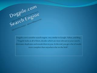 Dogpile.com Search Engine