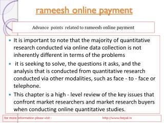 Easy method of rameesh online payment