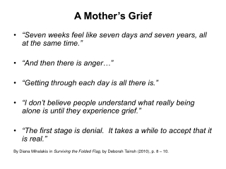 A Mother's Grief