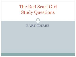 The Red Scarf Girl  Study Questions