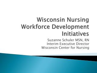 Wisconsin Nursing Workforce Development Initiatives