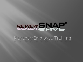 Manager/Employee Training