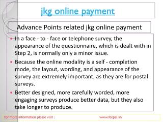 jkg online Payment Gateway Services
