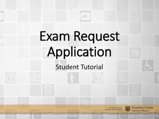 Exam Request Application