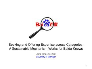 Seeking and Offering Expertise across Categories: A Sustainable Mechanism Works for  Baidu  Knows