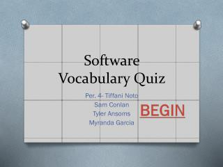 Software Vocabulary Quiz