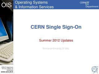 CERN Single Sign-On