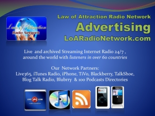 Law of Attraction Radio Network Advertising LoARadioNetwork.com