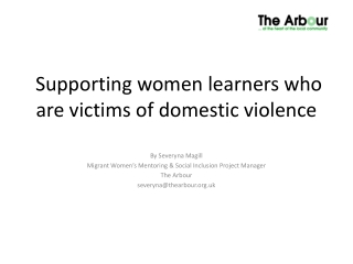 Supporting women learners who are victims of domestic violence