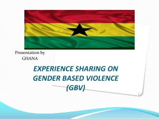 EXPERIENCE SHARING ON GENDER BASED VIOLENCE (GBV)