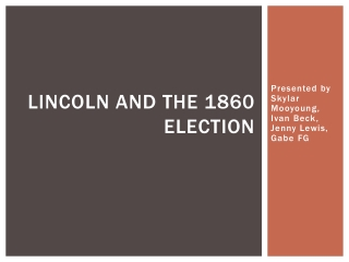 Lincoln and the 1860 Election