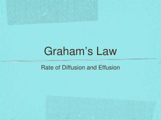 Graham ' s Law