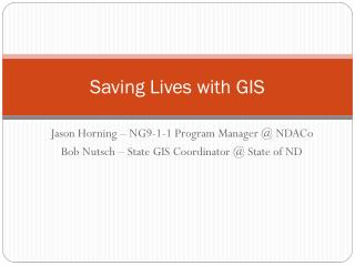 Saving Lives with GIS