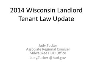 2014 Wisconsin Landlord  Tenant Law Update