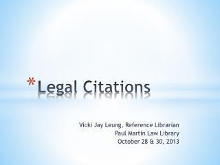 Legal Citations