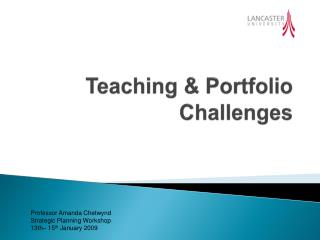 Teaching & Portfolio Challenges