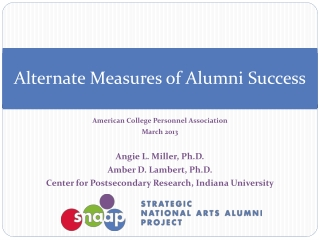 Alternate Measures of Alumni Success