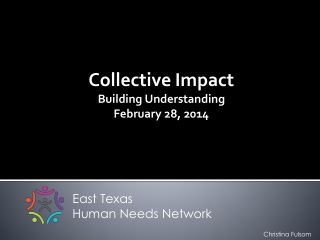 Collective Impact  Building Understanding February 28, 2014