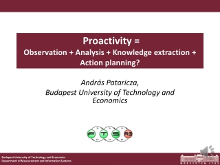 Proactivity =  Observation  + Analysis + Knowledge extraction + Action planning ?