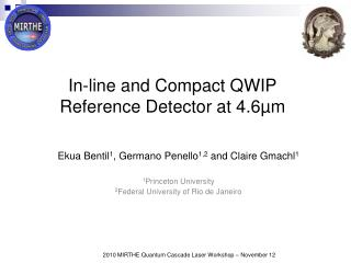 In-line and Compact QWIP Reference Detector at 4.6µm