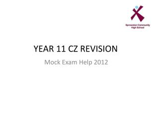 YEAR 11 CZ REVISION