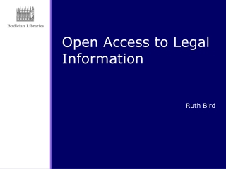Open Access to Legal Information