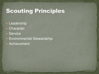 Scouting Principles