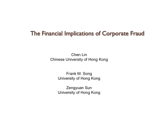 The Financial Implications of Corporate Fraud