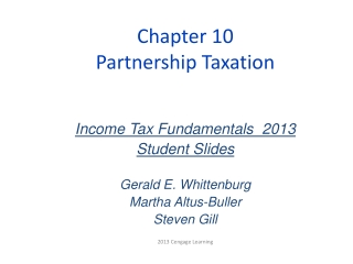 Chapter 10 Partnership Taxation