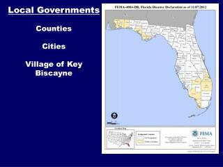 Local Governments Counties Cities Village of Key Biscayne