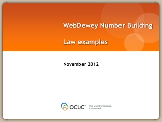 WebDewey  Number Building Law examples