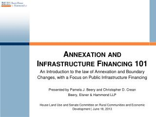 Annexation and Infrastructure Financing 101