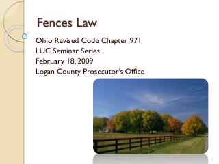 Fences Law