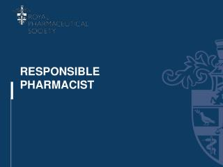 RESPONSIBLE PHARMACIST