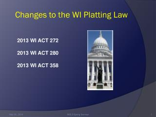 Changes to the WI Platting Law