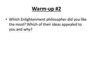 Warm-up #2