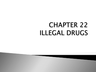 CHAPTER 22 ILLEGAL DRUGS