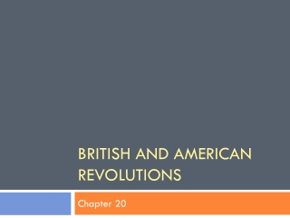 British and American revolutions