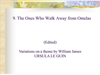 edited   variations on a theme by william james ursula le guin