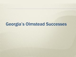 Georgia's Olmstead Successes