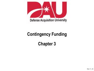 Contingency Funding Chapter 3
