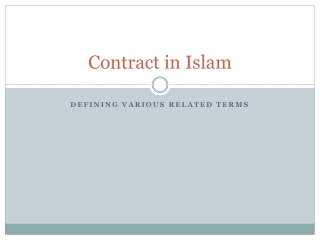 Contract in  I slam