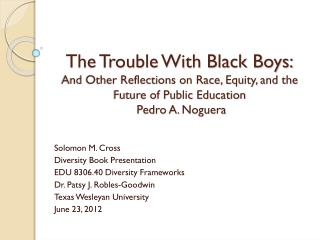 The Trouble With Black Boys: And Other Reflections on Race, Equity, and the Future of Public Education  Pedro A.  Nogue