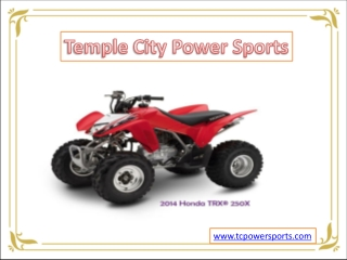 Temple City Power Sports - Honda TRX