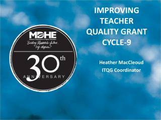 Improving teacher quality Grant Cycle-9